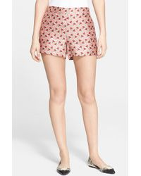 Tory Burch Silk Shorts - Lyst