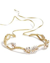 Nestina Accessories - Crystal Vine Bridal Head Piece - Metallic - Lyst