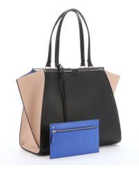 Fendi Black And Powder Leather '3Jours' Large Trapeze Bag - Lyst