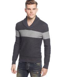 American Rag Textured Chest-Stripe Sweater - Lyst