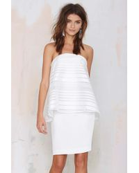 Nasty Gal Cameo Department Layered Dress white - Lyst