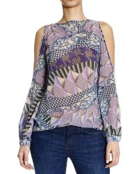 Versace Collection Shirt Sleeve Long Printed Intreccio - Lyst