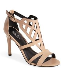 Charles by Charles David 'Illustrate' Caged Leather Sandal - Lyst