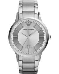 Emporio Armani Mens Stainless Steel Bracelet Watch 43mm - Lyst