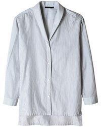 Tibi Striped Easy Collared Shirt - Lyst