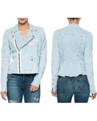 Joe's Jeans Moto Peplum Jacket - Lyst