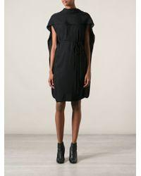 Lanvin Cape Back Dress - Lyst