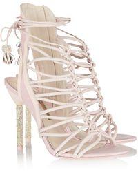Sophia Webster - Lacey Crystalembellished Leather Sandals - Lyst