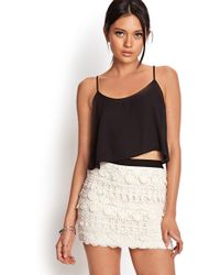 Forever 21 Tiered Crochet Skirt - Lyst