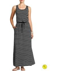 Banana Republic Factory Print Maxi Dress Cool Combo - Lyst