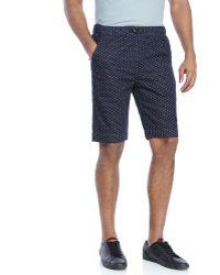Garbstore Navy Bmx Dot Print Shorts - Lyst