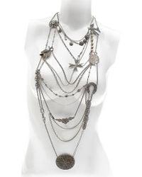 Maria Zureta - Mish Mash Silver Necklace - Lyst