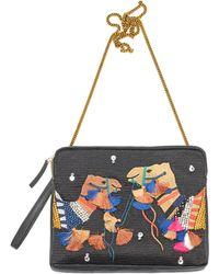 Lizzie Fortunato Safari Clutch In Bright Camel multicolor - Lyst