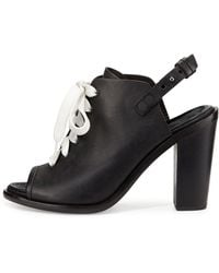 Rag & Bone Trafford Lace-Up Peep-Toe Bootie - Lyst