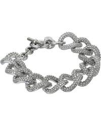 Michael Kors Brilliance Curb Link Toggle Bracelet - Lyst
