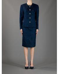 Gianfranco Ferre Vintage Blue Skirt Suit - Lyst