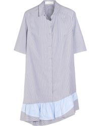 Thakoon Addition - Addition Striped Stretch-Cotton Dress - Lyst
