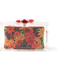 Charlotte Olympia Pandora Rose Perspex Clutch Bag - Lyst