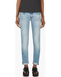 Rag & Bone Blue Faded The Dre Jeans - Lyst