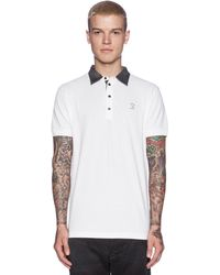 Diesel White Antho Polo - Lyst
