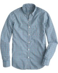 J.Crew Tall Lightweight Shirt in Estate Blue Check - Lyst