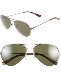 Tory Burch 55Mm Aviator Sunglasses - Antique Silver - Lyst