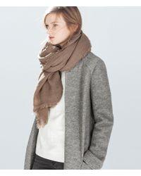 Zara Basic Extra Soft Scarf - Lyst