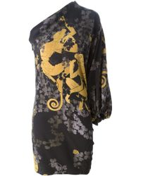 Lanvin Floral Monkey Print Dress - Lyst