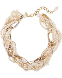 Erickson Beamon - Lady And The Tramp Gold-plated, Faux Pearl And Swarovski Crystal Necklace - Lyst