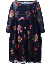 Sonia by Sonia Rykiel Stripe And Floral Flared Dress - Lyst
