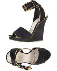 Balmain Black Sandals - Lyst