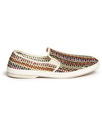 Rivieras 'Lord Zelco' Woven Leather Skate Slip-Ons multicolor - Lyst