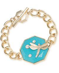 Carolee - Dragonfly Toggle Bracelet - Lyst