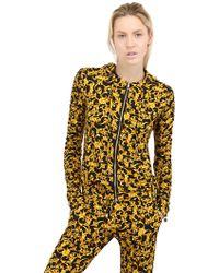 Versace Zip Up Printed Viscose Jersey Sweatshirt - Lyst