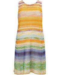 Missoni Striped Sleeveless Knit Dress multicolor - Lyst