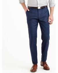 J.Crew Ludlow Suit Pant in Windowpane Italian Wool Flannel - Lyst