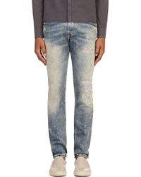 Diesel Blue Faded and Distressed Belther L32 Jeans - Lyst