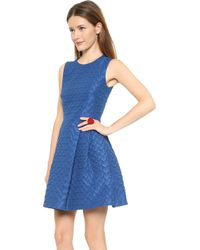 RED Valentino Heart Faille Dress Cobalt - Lyst