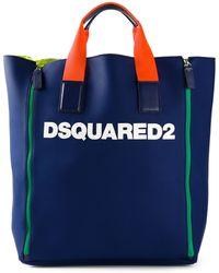 DSquared2 Appliqué Logo Tote - Lyst