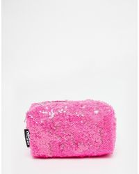 Jaded London - Pink Sequin Make-up Bag - Lyst