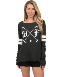 Wildfox Polo Club Cozy Raglan - Lyst