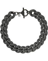 Michael Kors Black Curb Chain Necklace - Lyst