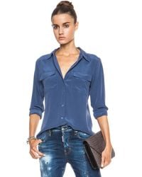 Equipment Slim Signature Silk Blouse - Lyst