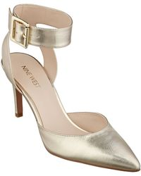 Nine West Callen Metallic Leather Pumps - Lyst
