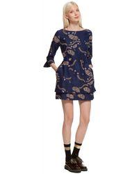 Suno Embroidered Mini Dress - Lyst