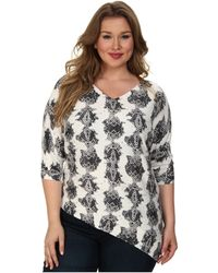 DKNY Plus Size Vertical Winter Python Printed Triangle Pullover - Lyst