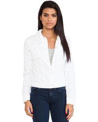 J Brand White Jacket - Lyst