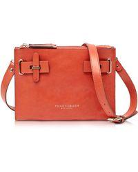 Francesco Biasia - Hampstead Orange Leather Crossbody Bag - Lyst