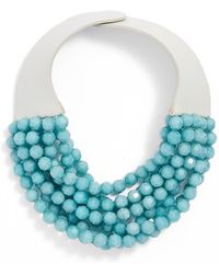 Fairchild Baldwin Multirow Beaded Collar Necklace