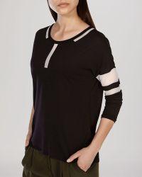 Karen Millen Tee - Sheer Mesh Inset black - Lyst